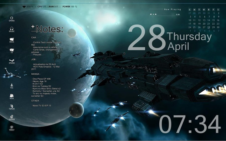 Rainmeter Space Skin